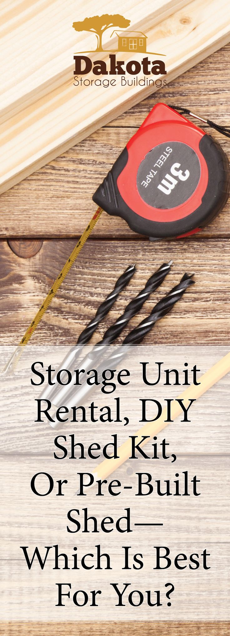 Here are some pros and cons to renting a storage unit, building a DIY shed kit, and buying a pre-built shed—they're laid out in simple, easy-to-read lists. https://www.dakotastorage.com/blog/storage-unit-rental-diy-shed-kit-or-pre-built-shed-which-is-best-for-you