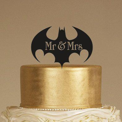 Batman pastel de bodas topper Sr. & Sra. cake topper por BRAWOX