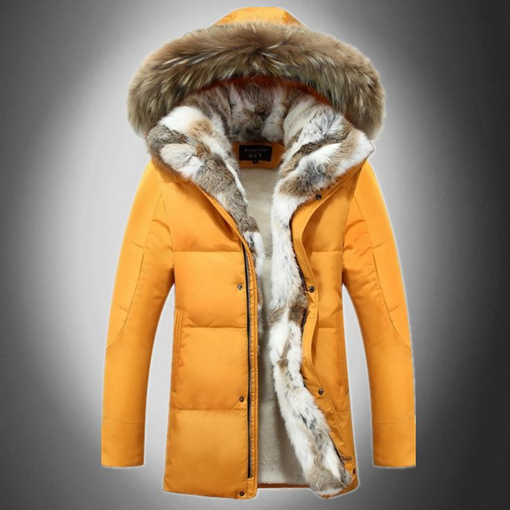 >> Click to Buy << Men Warm Hooded Down Jacket And Coats Winter Snow Thick Fleece White Duck Coats Slim Fit Couple Trench Coats D1736-Euro Size #Affiliate