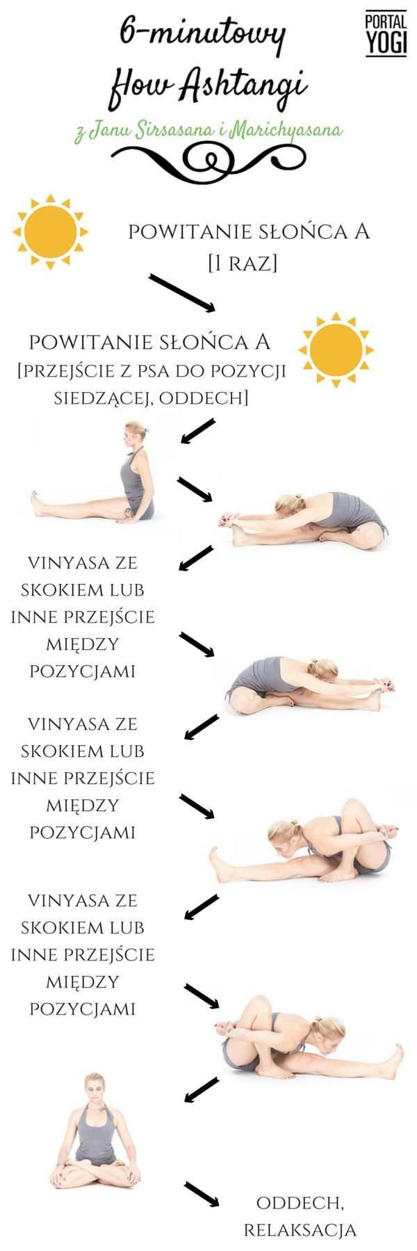 6-minutowy flow Jogi Ashtanga z Janu Sirasana i Marichyasana. #joga #jogawdomu #portalyogi