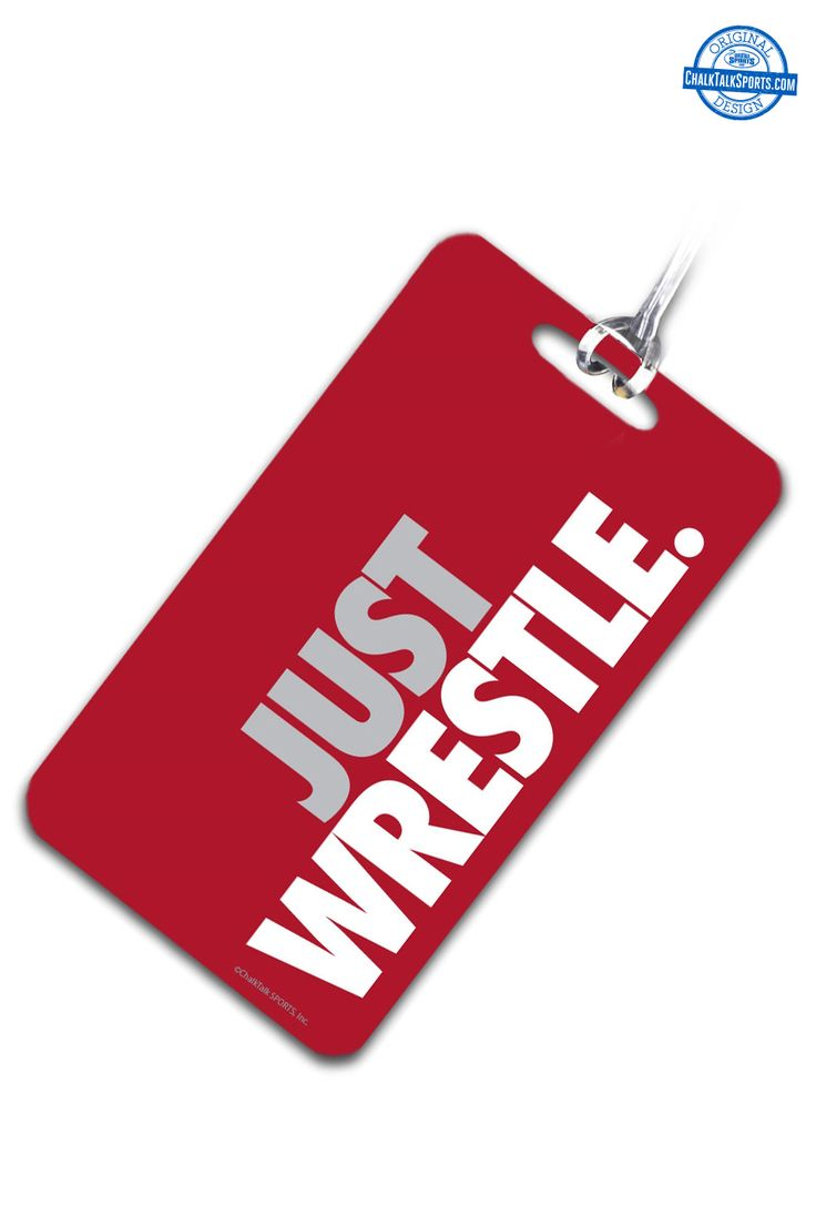 Love to wrestle? Show your pride everywhere you go with our wrestling bag tags at ChalkTalkSPORTS.com!