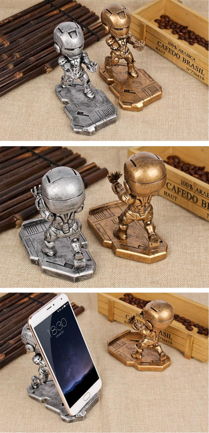 Iron Man Cell Phone Desk Stand, Cell Phone Holder For Car, Magnetic Phone Holder, Cellphone Holder For iPhone