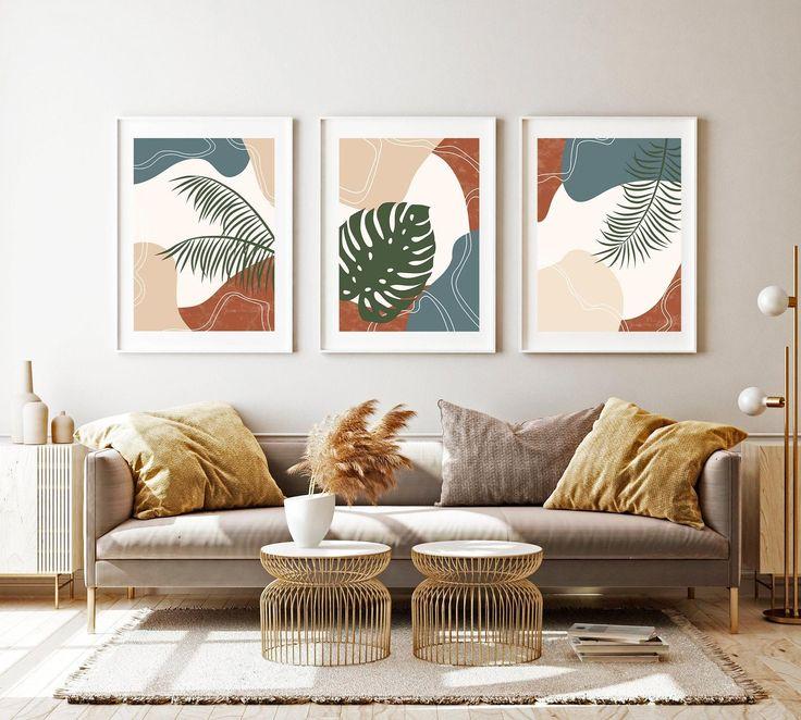 Cactus Wall Art, Leaf Wall Art, Abstract Wall Art, Wall Art Sets, Wall Art Decor, Diy Framed Wall Art, Home Wall Art, Art Pour Salon, Mur Diy