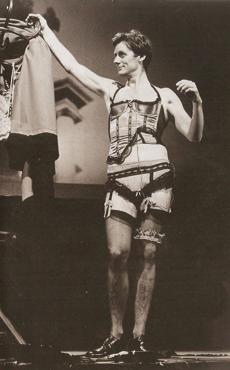 Michael Palin in his (or somebody else's) underwear