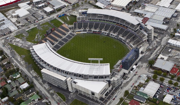 The brand-new AMI Stadium built for the Rugby World Cup that had to bypass Christchurch in 2011, and now to be demolished without ever being filled