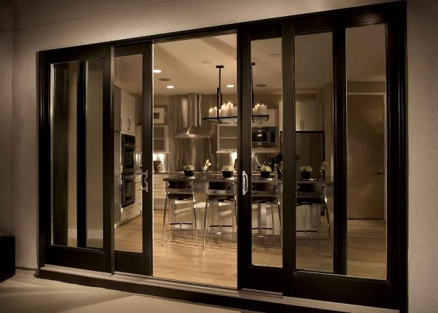 Types Sliding Patio Doors that You Can Choose : FiberGlass Sliding Patio Door With 4 Panel Configurations