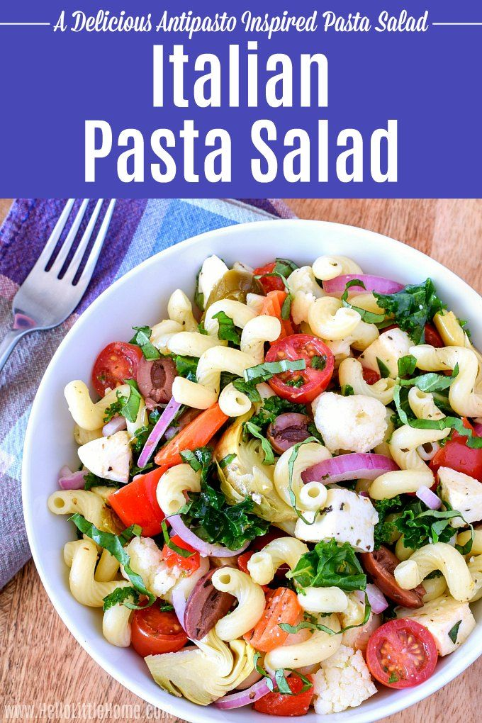 Learn How To Make An Easy Italian Pasta Salad Recipe Video This Cold With Homemade Dressing Is Has Bold Flavors Like Kale