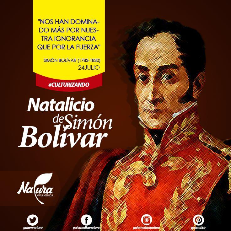 El Día del natalicio de Simón Bolívar se celebra cada año el 24 de julio, día en el que se recuerda a uno de los políticos más importantes de la historia venezolano, Simón José Antonio de la Santísima Trinidad Bolívar y Palacios Ponte y Blanco conocido como Simón Bolívar.