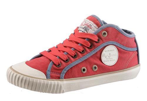 #Pepe #Jeans #Damen #Boots #rot Pepe Jeans Boots aus Canvas, Futter: Textil, Innensohle: Textil, Laufsohle: Synthetik, Schuhweite: normal (Weite F), Reißverschluss.