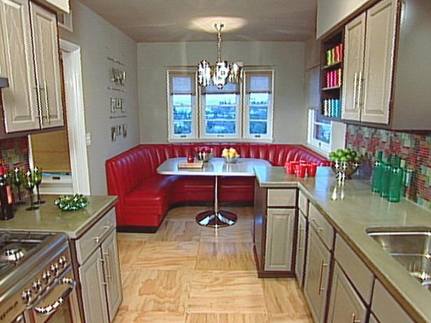 I Love The Idea Of A Big Booth In The Kitchen Home
