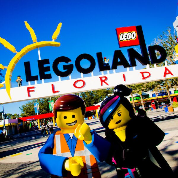 """A short drive from Sarasota, Florida families will enjoy this 150-acre Lego theme park with kids rides, a water park and the new """"World of Chima""""."""