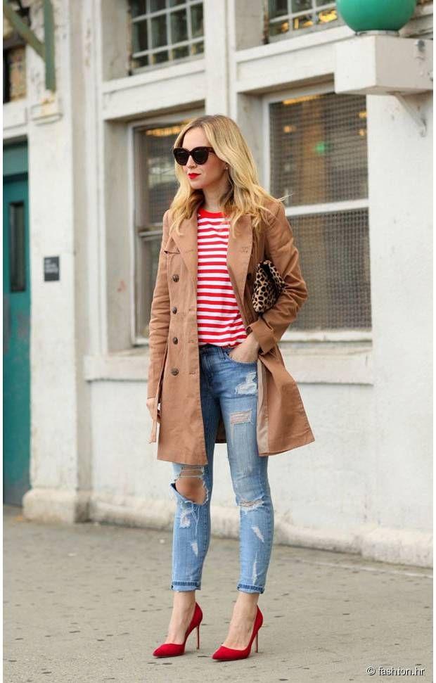 9d63b2e83deb0 Le bon jean troué et les escarpins rouges et hop, c est parfait !   Mode    Pinterest   Mode, Escarpins et Escarpins rouges