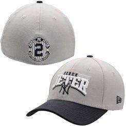 New York Yankees New Era Jeter Stretch 39FTHIRTY Flex Hat – Gray/Navy Blue