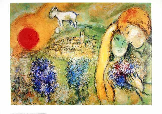 Marc Chagall - Liebende in Vence
