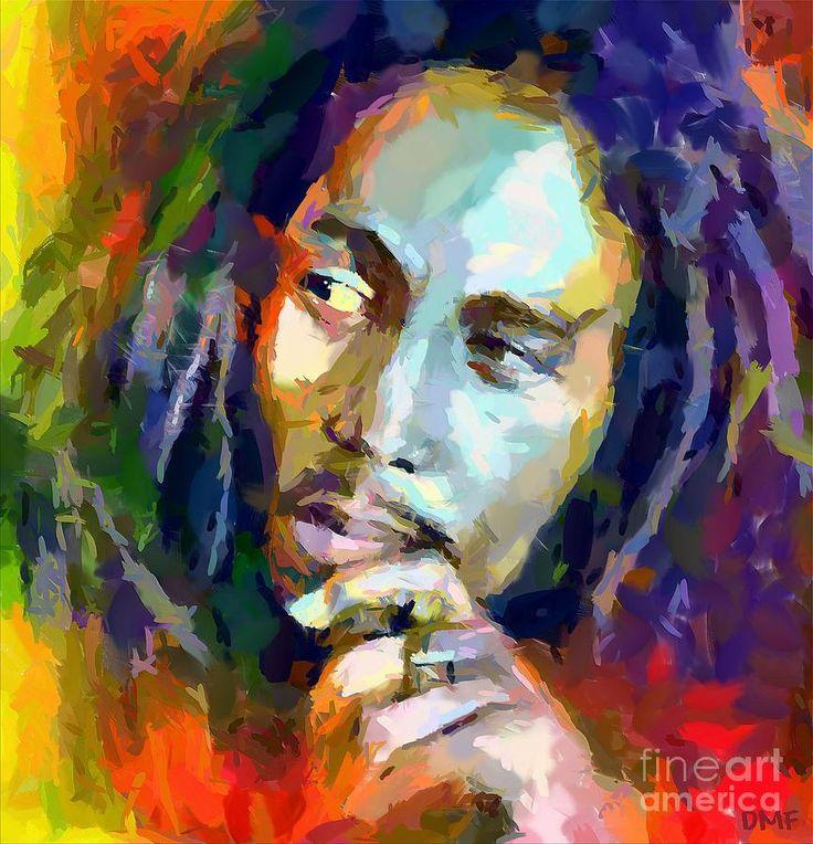 Bob Marley Painting by Dragica Micki Fortuna
