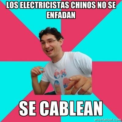 Los electricistas chinos...
