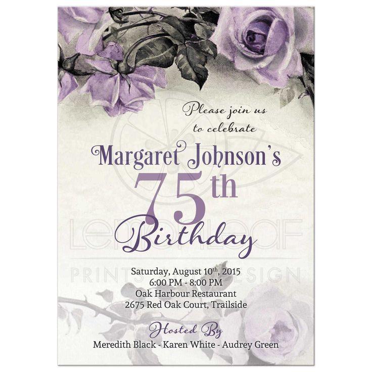 Einladung Zum 75 Geburtstag Gestalten Kostenlos