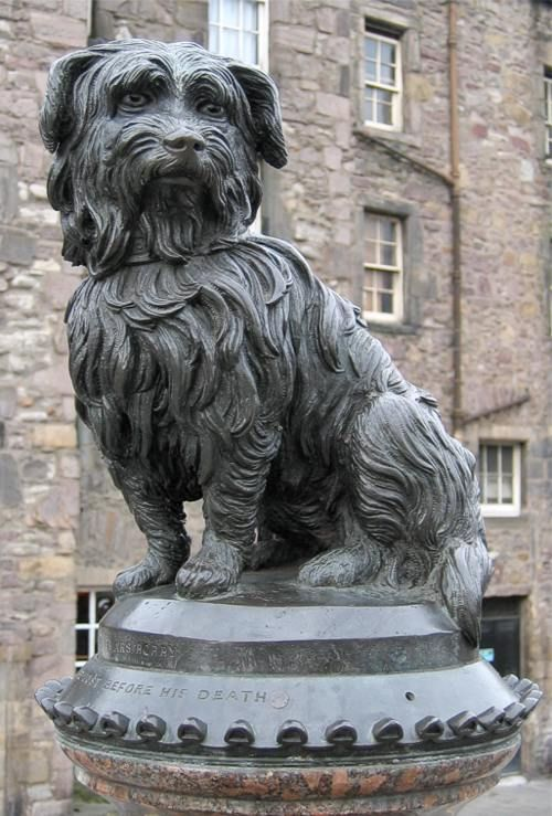 Pictured is the famous statue in Edinburgh, Scotland, of Greyfriars Bobby, a terrier who guarded the grave of his owner for 14 years