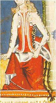 Lady with Spanish clothing : pellote, brial 1283-1287