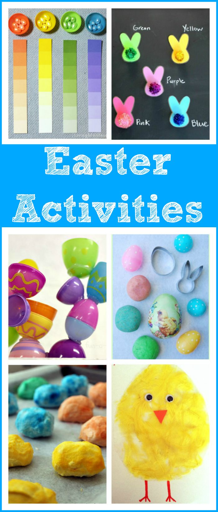 16 Easter activities for toddlers and preschoolers - arts and crafts, math, science, literacy, and sensory play!