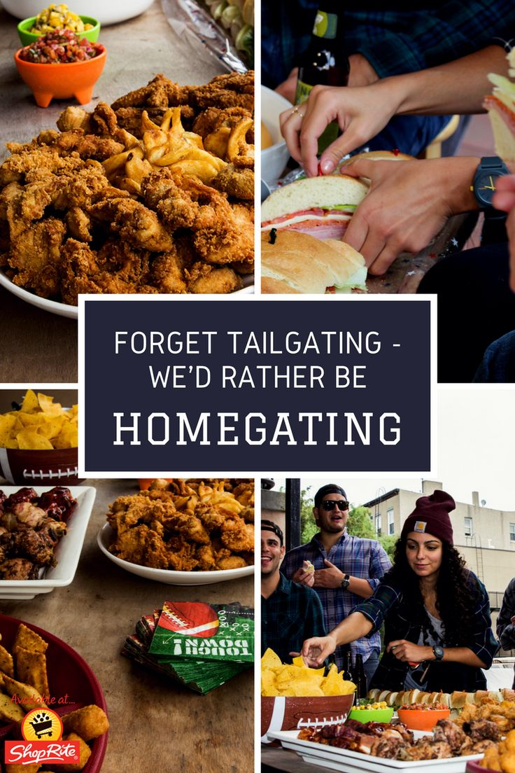 Who says you can't tailgate from the comforts of your own home? Invite over a few friends to watch Sunday's game in style with a spread that is #HomeGatingApproved and absolutely stress-free. Everything you need for the perfect football party, right at yo