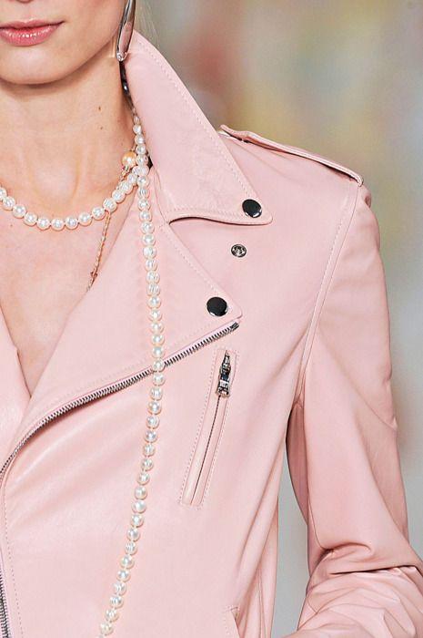 Ralph Lauren pink leather jacket