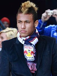 Neymar supporting those Red Bulls!