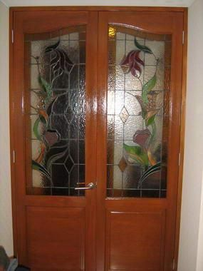 33 best images about puertas on pinterest miami egypt for Puerta interior madera y vidrio