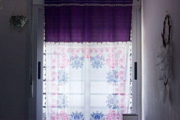 Hacer cortinas con pañuelos