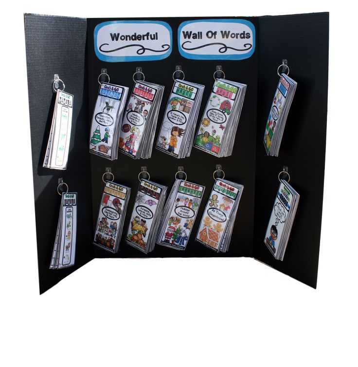 Get creative with the way you display a portable word wall. Portable word walls allow kids to access words all around the classroom. Low prep- Just print and laminate. The Grab & Go bundle includes editions for every month of the year. Tons of engaging themes!