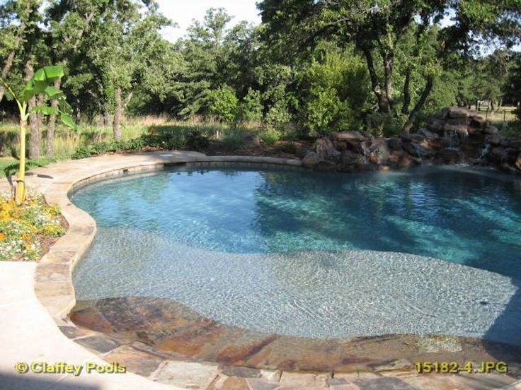 17 best images about pool outdoor on pinterest decks for Pool design with beach entry