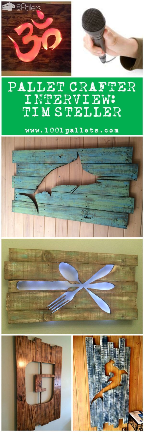 #Crafter, #Interview, #RecyclingWoodPallets Today, we had the chance to ask some questions to Tim Steller, Crafterfrom Sarasota in Florida (USA)who specializes in making all kind of beautiful Artworks mainly from recycled wooden pallets; you can follow the work of Tim on its website: