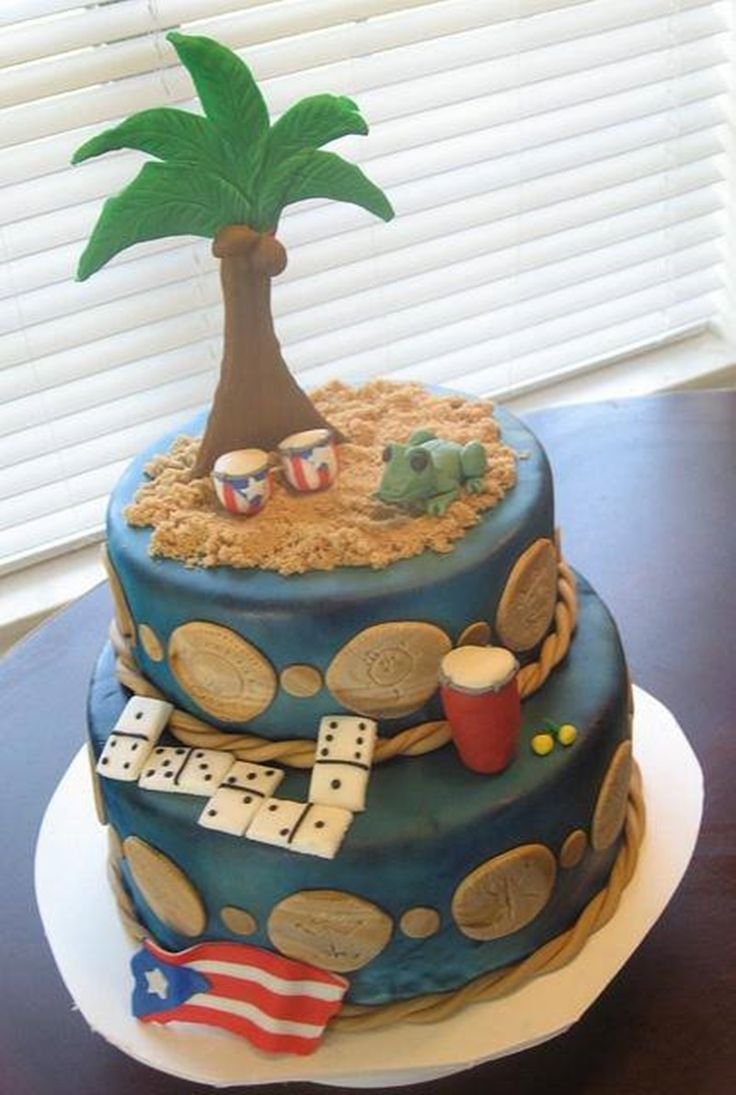 Puerto rico cake cakes and cake decorating pinterest for Acanthus decoration puerto rico