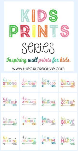 Kids Print Wall Art Collection - Free Printables for Kids #decor #idea #printablesforkids
