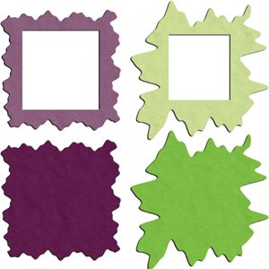 Silhouette Online Store - View Design #13954: splatted square frames/mattes