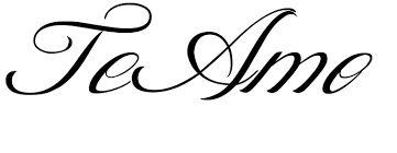 Resultado de imagen para te amo letras cursivas