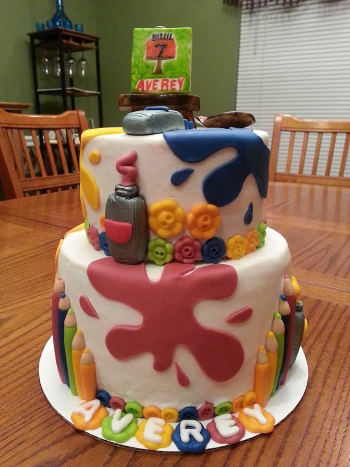 Art Theme Birthday Cake Birthday Cake Artist Cake Cake