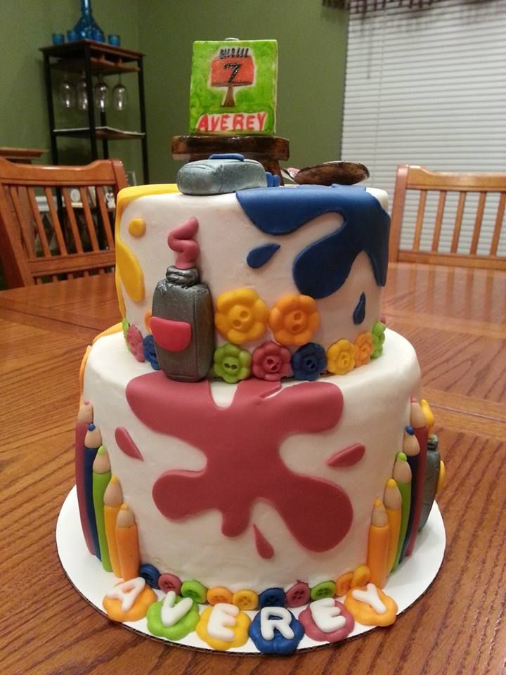 Art Themed Cake : 148 best images about Cakes I ve Made on Pinterest ...