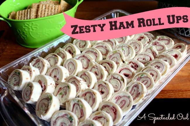 If you're planning on having lots of people over to watch the game or just looking for a tasty appetizer, check out these Zesty Ham Roll Ups.
