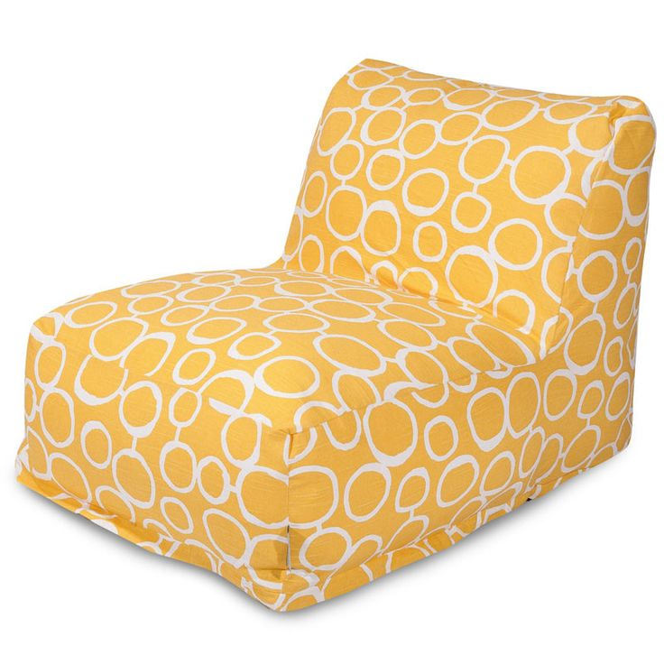 Majestic Home Goods 85907238044 Fusion Yellow Bean Bag Lounger Chair