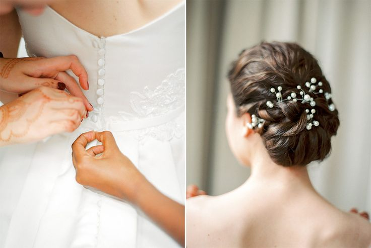 up do perlen im Haar verschlungen braut bridal style