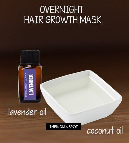Overnight Hair Growth Mask - Coconut Oil and Lavender essential oil