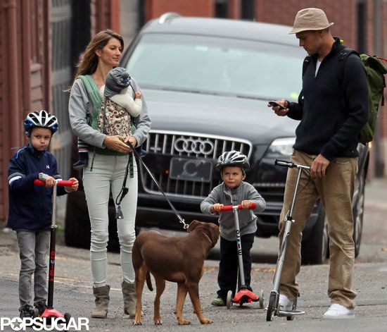 Tom Brady and Gisele Bundchen With Their Kids in Boston