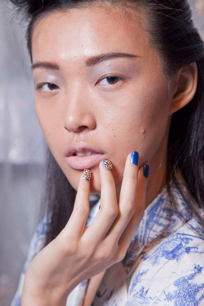 Ruffian nail jewelry: Nails Art, Nails Colors, Beautiful Spring, Cobalt Blue, Runway Nails, 2013 Runway, Spring 2013, Nails Jewelry, Ruffian Nails