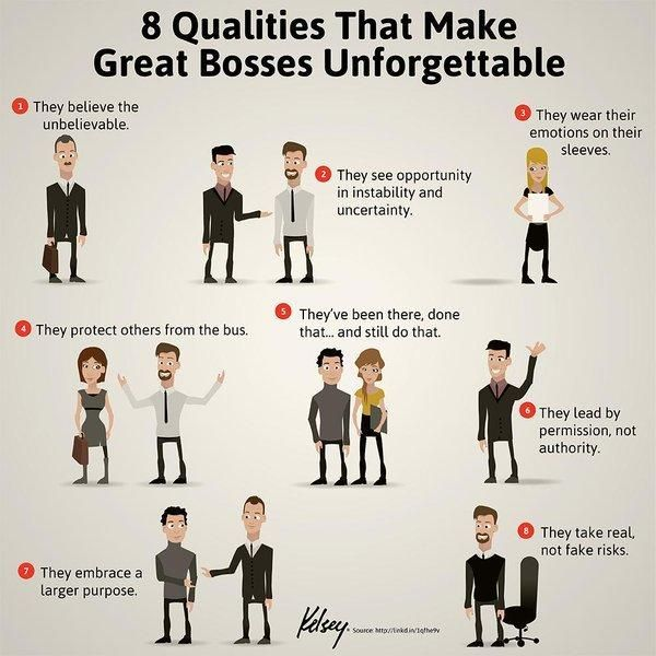 8 qualities that make great bosses unforgettable