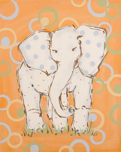 Whimsey Elephant Canvas Room Décor | Carousel Designs