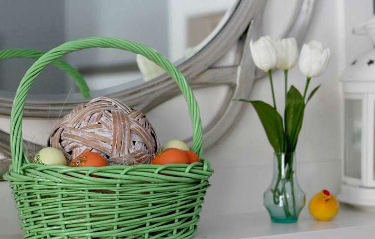 Decorazioni per Pasqua - Cesto con uova