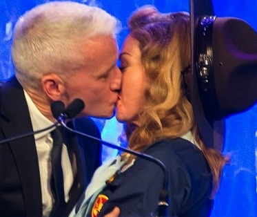 GLAAD? Anderson Cooper Makes Out With Madonna In Boyscout Uniform