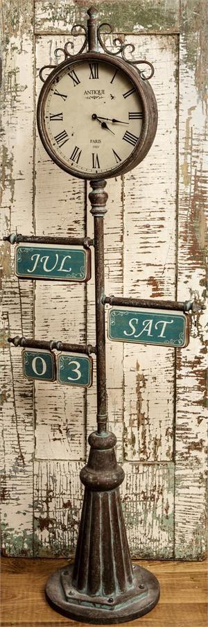 "Town Square Calendar Clock: 6' 7"" Tall"