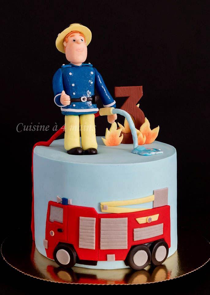 Sam Le Pompier 1 Gateau Pompier Gateau Gateau Anniversaire